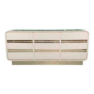 Vintage 1980s Art Deco Waterfall Dresser For Sale