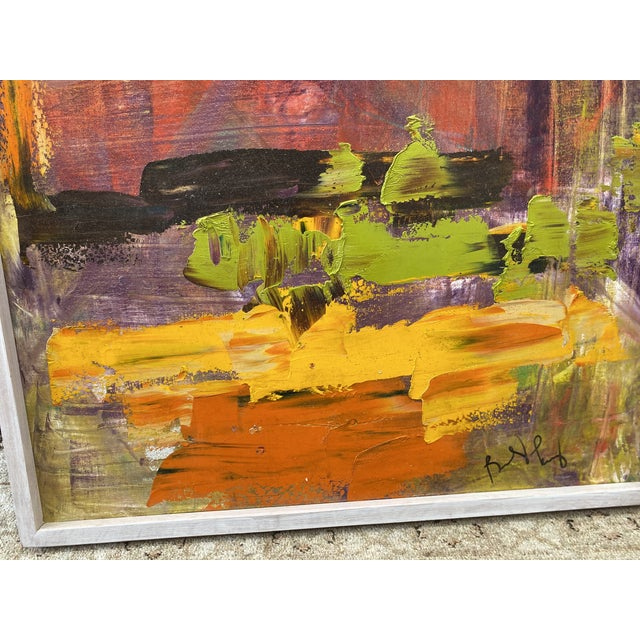 Mid 20th Century Abstract Oil Painting For Sale - Image 10 of 11
