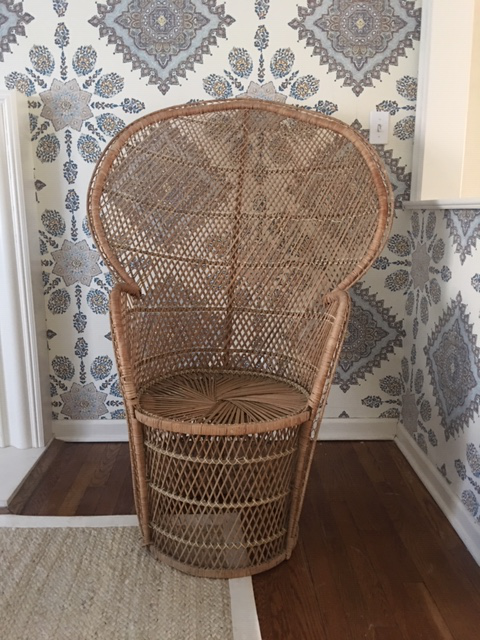 Like The Original Huey Newton Chair, This High Backed Wicker Chair Is An  Iconic Piece