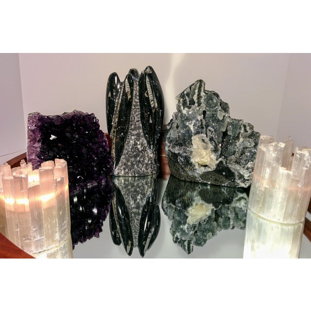 Pair of Selenite Moroccan Crystal Tealight Candle Holders - Image 6 of 9