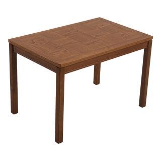 Heggin Norway Mid-Century Teak Parquet Side Table For Sale