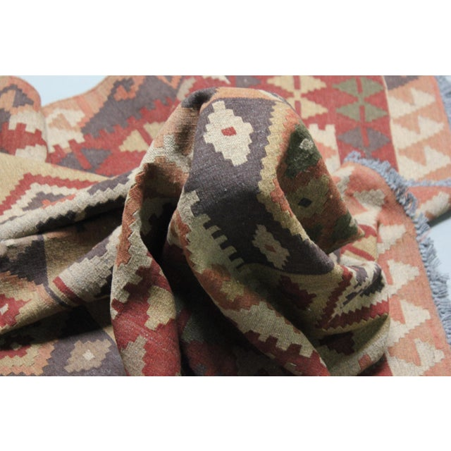 """Hand Knotted Maimana Kilim by Aara Rugs - 6'5"""" x 4'11"""" For Sale - Image 4 of 6"""