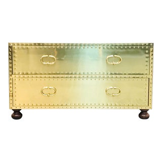 1970s Hollywood Regency Sarreid Clad 2 Drawer Chest For Sale