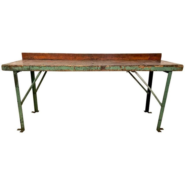 20th Century Industrial Workbench or Console For Sale - Image 12 of 12