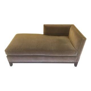 Brown Velvet Chaise Lounge