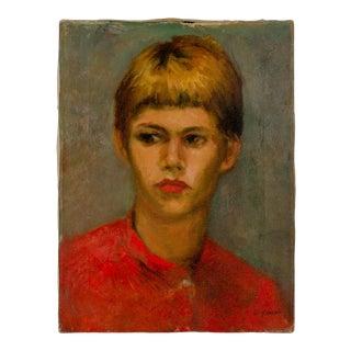 1962 Walter Greer (Hilton Head) Portrait Painting byBetsy Sugarman For Sale