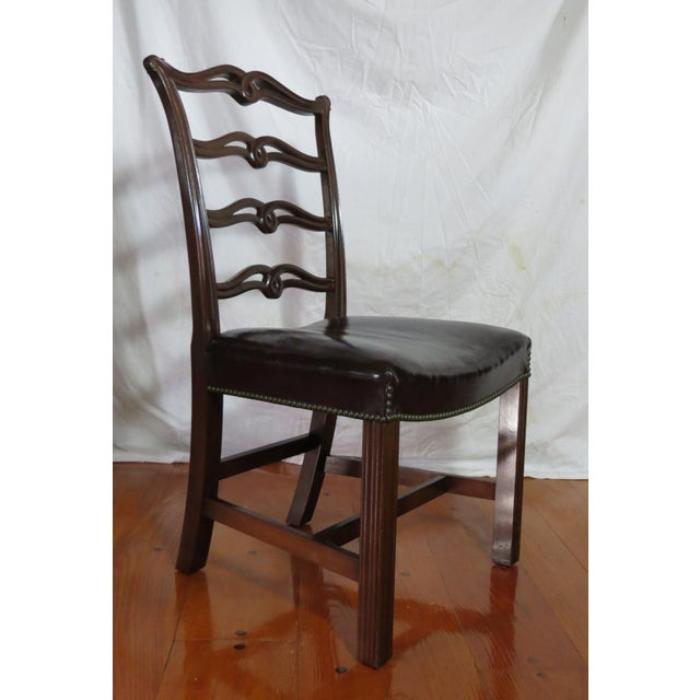 Chippendale Ribbon Back Dining Chairs - Set of 8 For Sale - Image 9 of 13