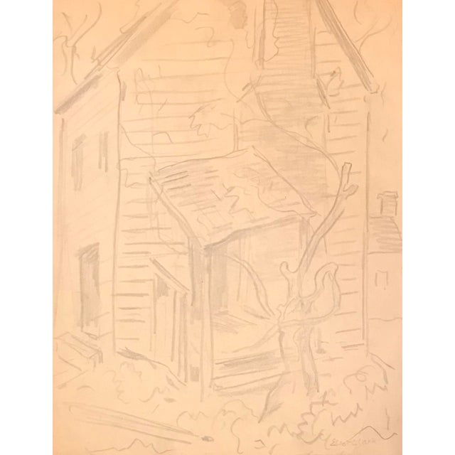 Figurative Eliot Clark WPA Style Drawing For Sale - Image 3 of 3