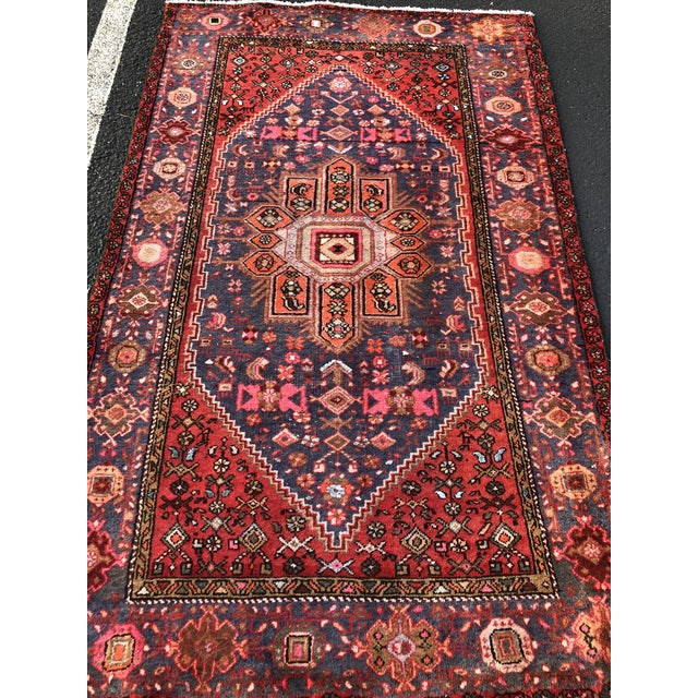"""3'11""""x6'8"""" 70yr Old Vintage Persian Hamadan Rug Thanks for visiting our shop! First and foremost we price ourselves on the..."""