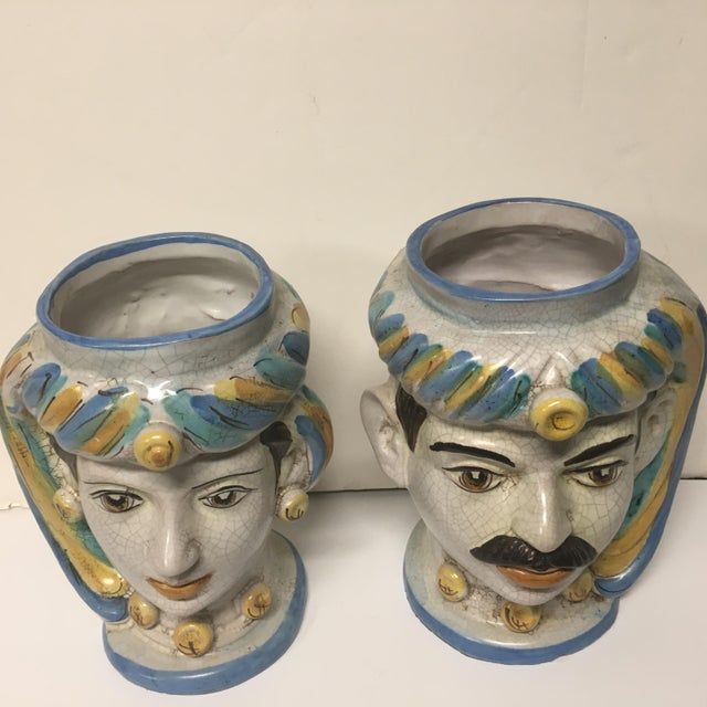 Figurative Sicilian Vases - a Pair For Sale - Image 9 of 10