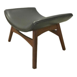 Foster McDavid Danish Modern Teak and Vinyl Ottoman For Sale