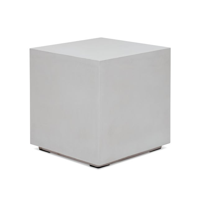Contemporary Robert End Table, Ivory For Sale - Image 3 of 5