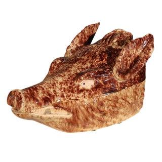 Wild Boar's Head Tureen For Sale