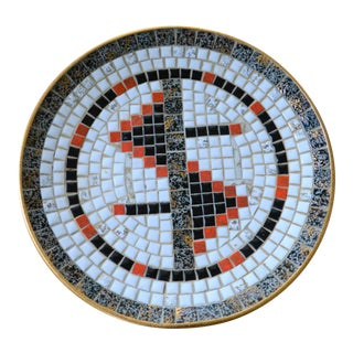 Mid-Century Mosaic Tile Platter For Sale