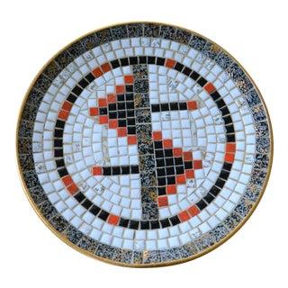 Mid-Century Mosaic Tile Platter