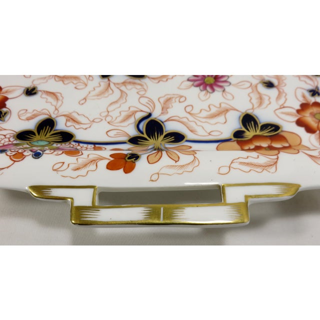 Antique Bone China Imari Style Serving Tray For Sale In Boston - Image 6 of 13
