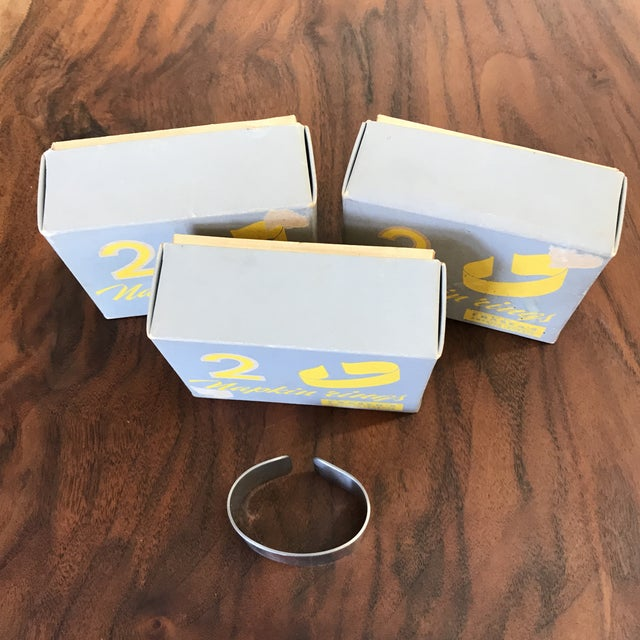 Mid-Century Modern Set of 5 Swedish Napkin Rings by Cultura For Sale - Image 3 of 13