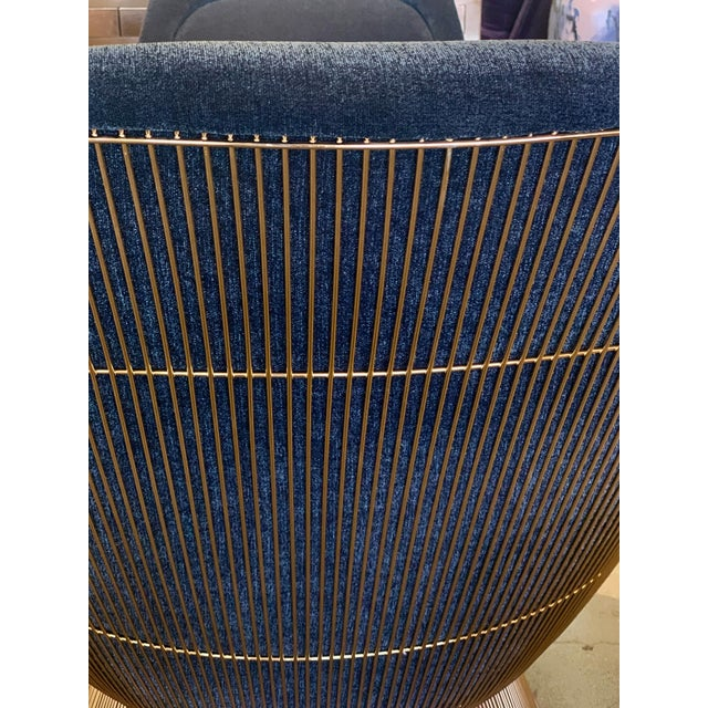 Metal 3 Warren Platner for Knoll Easy Chairs 18-Karat Gold-Plated For Sale - Image 7 of 13