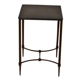 Mismatched Fuller Side Table With Black Marble