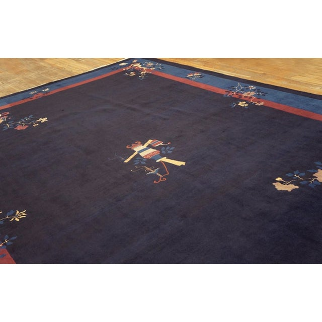 """1910s Antique Chinese - Peking Rug 11'0""""x15'0"""" For Sale - Image 5 of 6"""