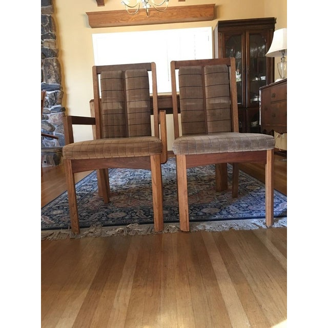 Vintage Oak Glass Top Dining Suite - Image 7 of 11