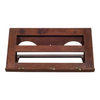 19th C. Mahogany and Brass Book Stand C.1800s For Sale