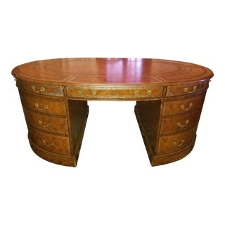 20th Century Regency Maitland Smith Partner Desk For Sale