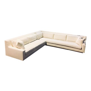 XL Custom 11ft Restoration Hardware Staging Sectional Sofa For Sale