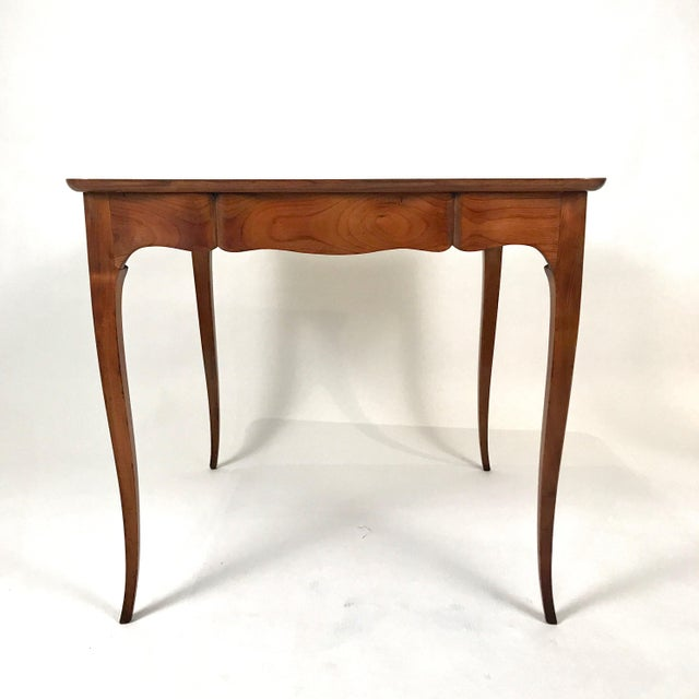Brown Two-Sided 1940s Fruitwood Carlhian Paris Decorative French Writing or Game Table For Sale - Image 8 of 10