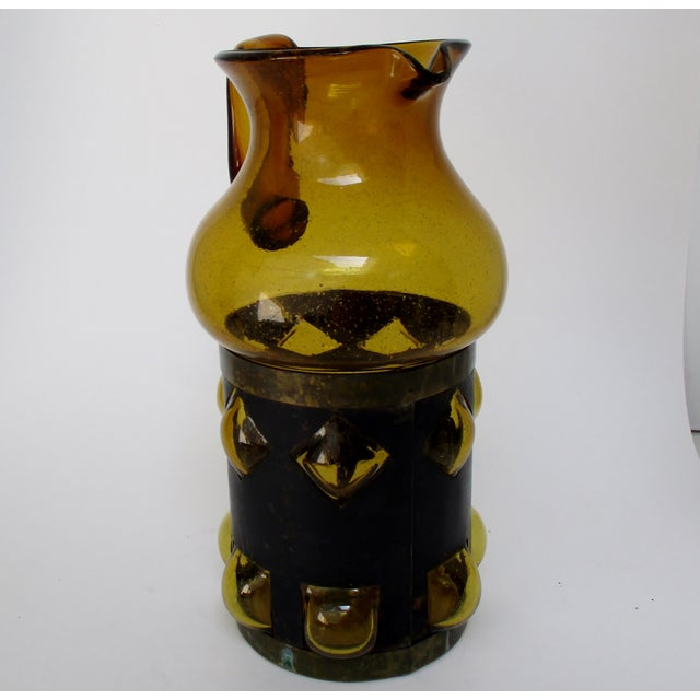 Mid 20th Century Imprisoned Glass Pitcher For Sale - Image 5 of 7