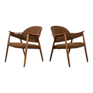 Gerhard Berg Mid-Century Modern Lounge Chairs - a Pair