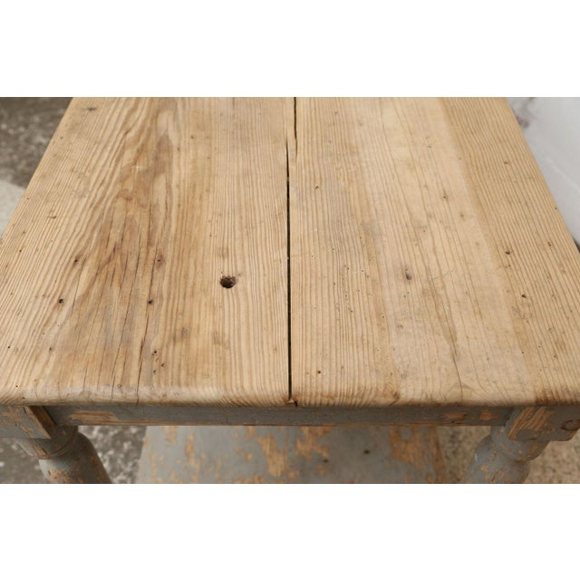 Wood Massive French Drapers Table For Sale - Image 7 of 11
