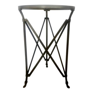 Dark Gold Tone 3 Legs Side Table For Sale