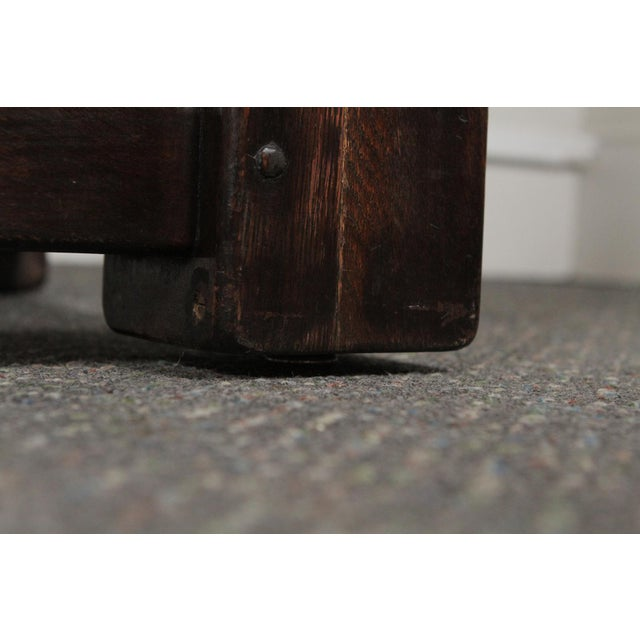 1900s Gothic Oak Console Table For Sale - Image 10 of 13