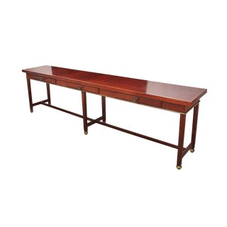 Modern Oak Federal Style Console Table For Sale