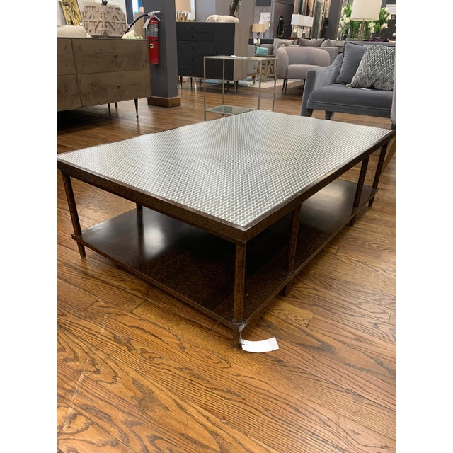 Contemporary Contemporary Herringbone Coffee Table For Sale - Image 3 of 4