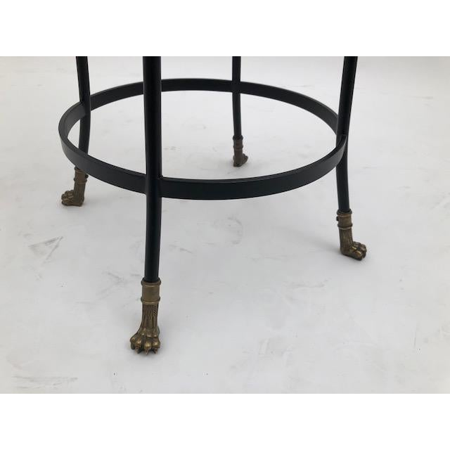 Cast Bronze and Black Iron Barstool (Bar Height) For Sale - Image 4 of 7