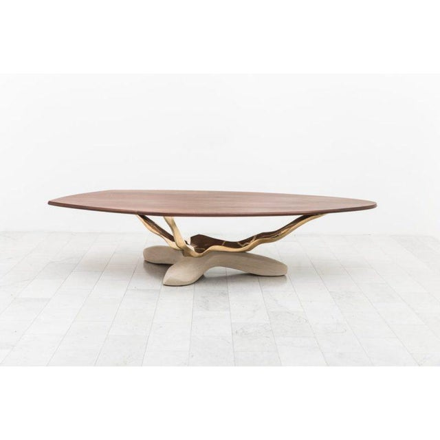 Markus Haase, Bronze, Walnut, and Limestone Dining Table, Usa, 2018 For Sale - Image 13 of 13