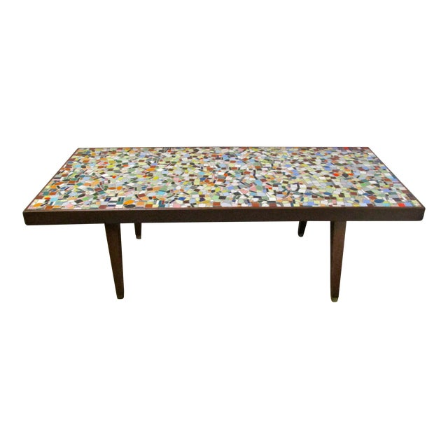 1960's Mosaic Tile Top Coffee Table - Image 1 of 6