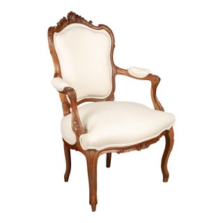 1900s Louis XV Style French Fauteuil Armchair For Sale