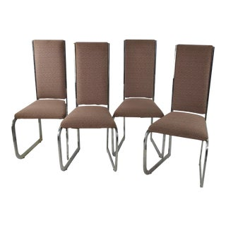Mid-Century Modern High Back Chairs - Set of 4