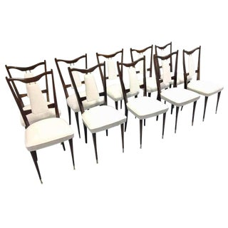 Mid-Century Italian Dining Chairs- Set of 10 For Sale