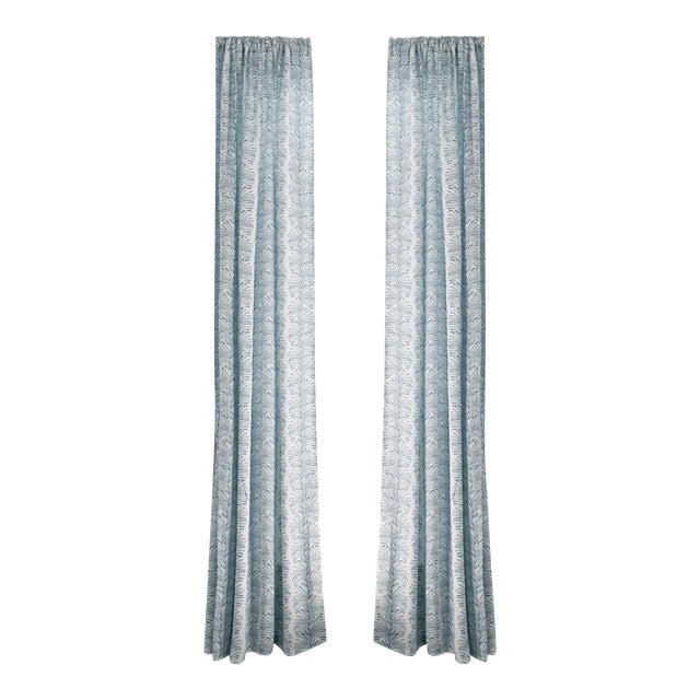 """Pepper Emma Sky 50"""" x 108"""" Curtains - 2 Panels For Sale"""