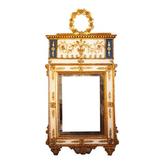 Late 18c Italian Mirror With Wreath Cartouche For Sale