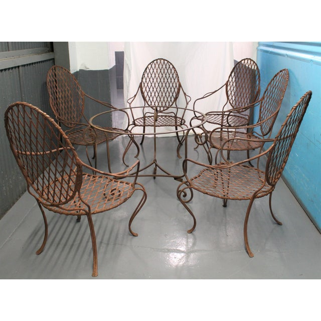 Cottage Rose Tarlow Twig Iron Garden Armchairs & Table Base For Sale - Image 3 of 10