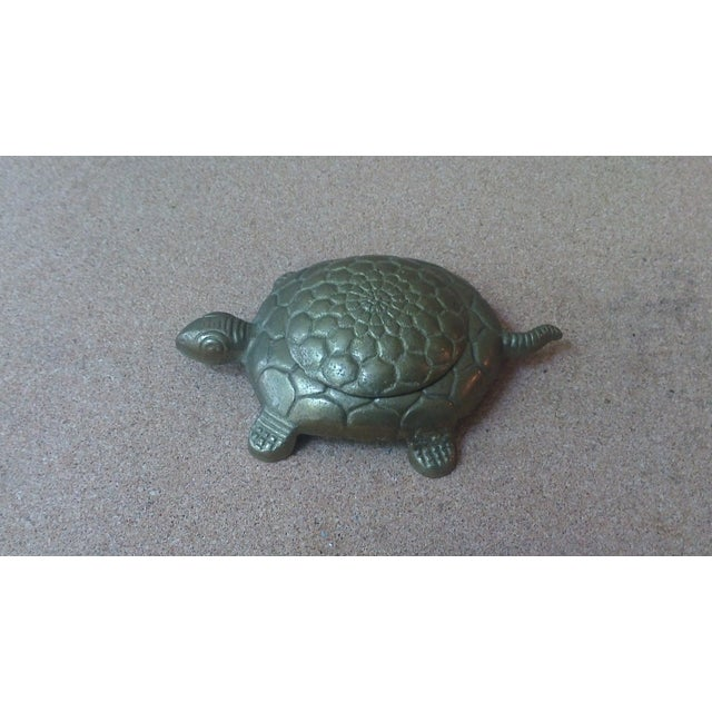 Vintage Brass Turtle Lidded Trinket Box - Image 6 of 7