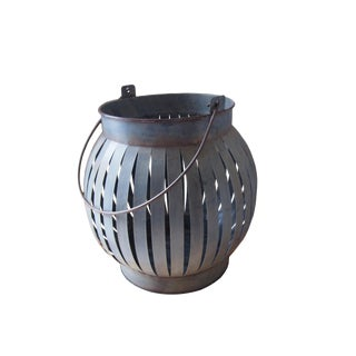 Modern Asia Galvanized Iron Lantern For Sale