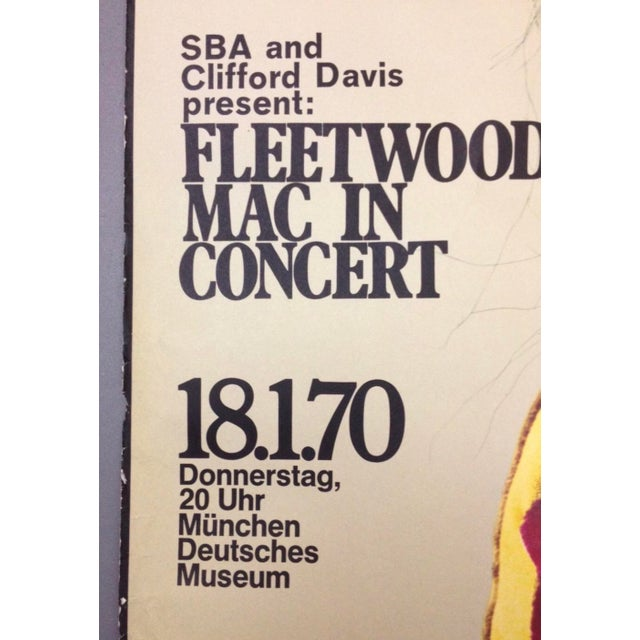 1970 Fleetwood Mac Concert Poster by Gunther Kieser Rare For Sale - Image 4 of 5