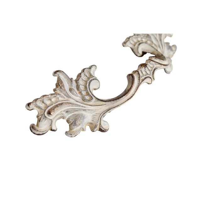 Off White Brass Acanthus Leaf Handles - Set of 6 - Image 3 of 5