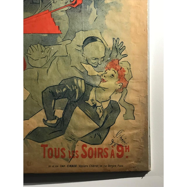 Art Nouveau 'La Bodinière' Théatre De La Tour Eiffel Original Art Nouveau Poster For Sale - Image 3 of 11